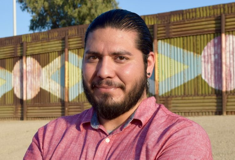 Michael Aguirre on the Calexico-Mexicali border. Michael studies shifts in meanings of citizenship and race on the U.S.-Mexico border.