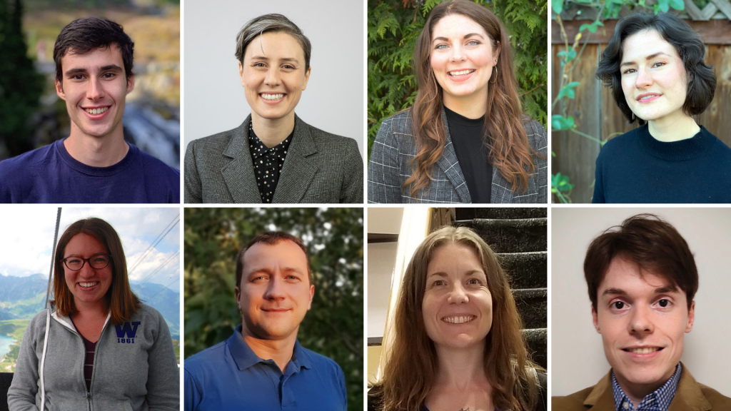Collage of 8 headshots of graduate students